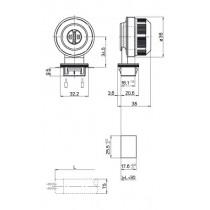 Douille pour tubes fluorescents T5 etanche a clipser