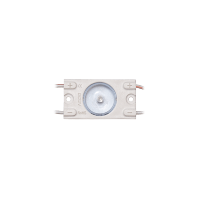 Chaîne de 30 modules LED Blanc 6000-7000K  MW-MLD-FLAT-1W-LENS170 12V IP67 170°