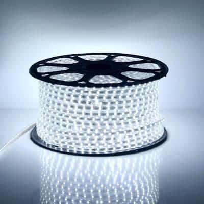 Rouleau LED SMD5050 60LED/m Blanc 6000k 50mètres Etanche IP65 220V AC
