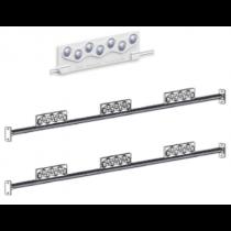 BoxBack-OVAL-Mx2-MB kit crochets + profile aluminium 1m50