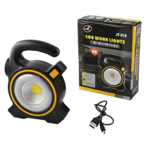 JY-819 COB WORK LIGHTS Projecteur portable solaire rechargeable avec câble port USB