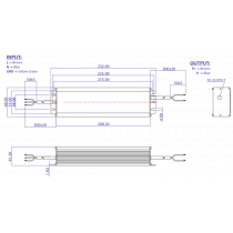 GLSV-200B012 DRIVER LED métallique 200w 12V 16.6A  IP67