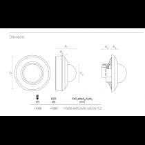 Schéma détecteur de mouvement sensor1020 plafonnier