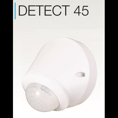 DETECT45 Détecteur de mouvement IR en applique 180° distance jusqu'à 10m +1m Etanche IP65