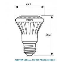 Philips MASTER LEDspot D 7-50W 2700K PAR20 25D