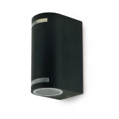 Quazar9 black applique de Jardin noir 2* ampoules à culot GU10 IP44