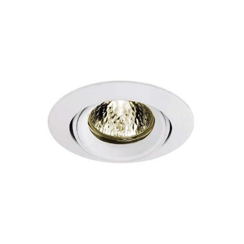 Kit spot basse tension MR16 12v 50w orientable blanc