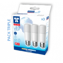 Pack de 3 ampoules Tungsram LED BrightStik 9W substitut 60W - E27- 220-240V 6500K-