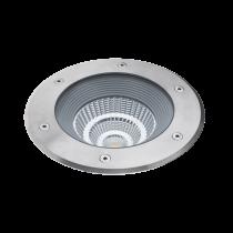 Spot LED de sol TOBA XL en acier inoxydable IP67 24W 4000K blanc