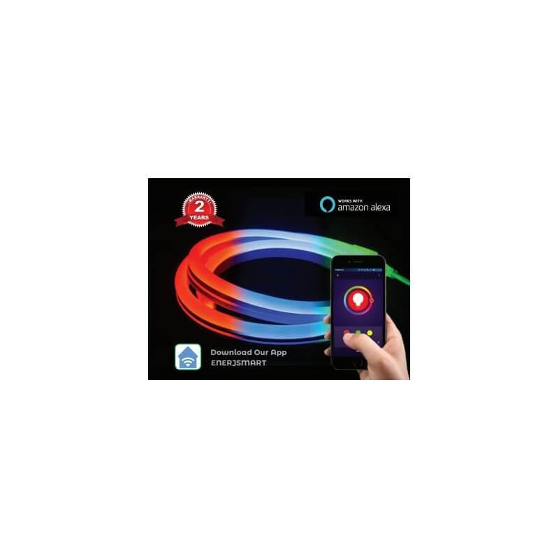 SHA5297 - Kit ENER-J Smart Wifi 3m RGB LED Neon Flexible 12v