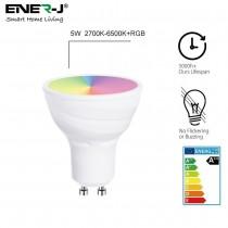 Ampoule LED connectée Wifi Smart Ener-j LED PAR16 5W substitut 50W 400 lumens 2700-6000K dimmable GU10