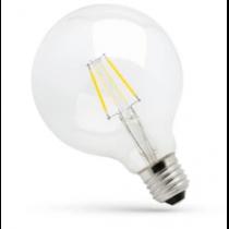 Ampoule FILALED 7.5W Globe T125 blanc trés chaud 2100k culot E27