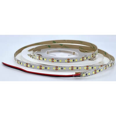 Ruban LED 12V 120LED/m 3000K Blanc Chaud  9,6W/m  étanche IP64 5m