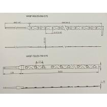ruban led zigzag UHQF-60LED-6W-W-6kk Schema