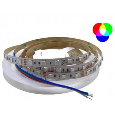 Ruban LED 12V 30led/m RGB multi-couleurs 7.2W/m 5m