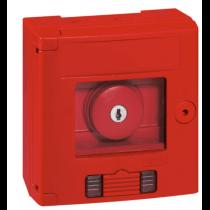 LEGRAND 0 380 09 Coffret bris de glace coup de poing IP44 rouge avec 2 voyant - montage en saillie