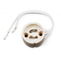 Douille volante pour ampoule culot GU10 cablé 230v 50Hz