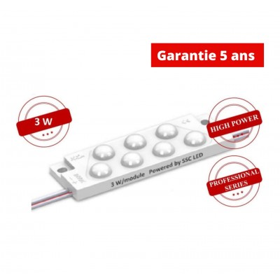 Chaine de 40 Modules 3W/module 24V Blanc 5.500K-7000k  IP68 170°