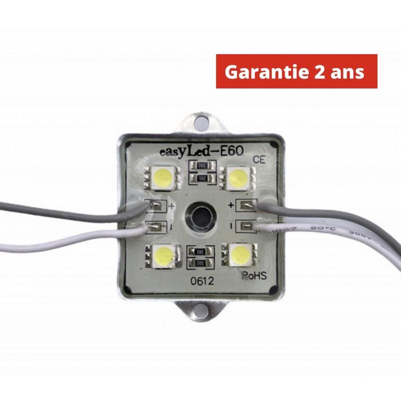 Chaine de 20 modules E60WS 1.44W/module Blanc 8000k Etanche IP65 12V