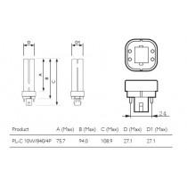 PHILIPS MASTER PL-C 10W/840/4P 1CT 623300