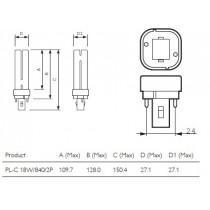 PHILIPS MASTER PL-C 18W/840/2P 1CT 620934