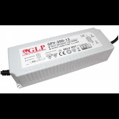 Alimentation LED GLP 200W 12V 16A Etanche IP67 GPV-200-12