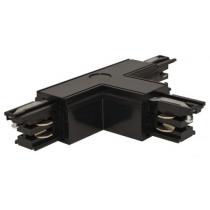 Connecteur en T rigide pour rail triphasé noir