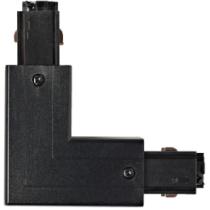 connecteur angle droit noir pour rail 3allumages 230V/400V 16A