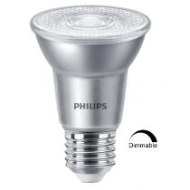 Ampoule LEDspot Philips Master PAR20 6w substitut 50w 515 lumens Blanc neutre 3000K dimmable E27