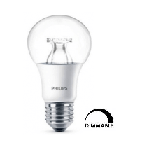 Ampoule LED Philips Standart A60 8.5W substitut 60W 806 lumens Blanc chaud 2700K Dimmable  E27