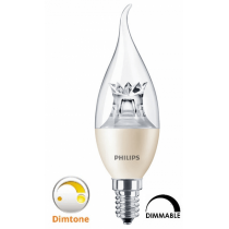 Ampoule LEDcandle Philips flamme 4W substitut 25W  250 lumens blanc chaud 2700k dimtone & dimmable E14