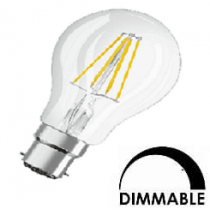 Ampoule LED OSRAM Standart A60  7.5W substitut 60W 806 lumens blanc chaud 2700K dimmable B22