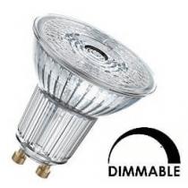 Ampoule LED OSRAM PAR16 8W substitut 80W 575 lumens blanc chaud 2700K dimmable GU10
