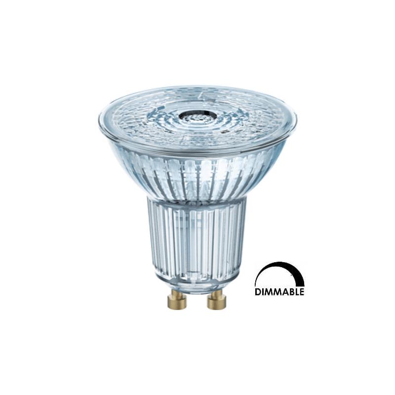 Ampoule LED OSRAM PAR16 7.2W substitut 80W 575 lumens blanc chaud 2700K dimmable GU10