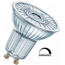 Ampoule LED OSRAM PAR16 3.1W substitut 35W 230 lumens blanc chaud 2700K dimmable GU10