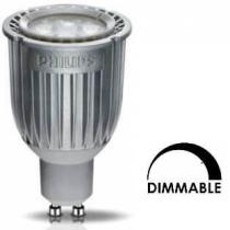 Ampoule LEDspot Philips tubulaire 7w substitut 35-50w 450 lumens blanc chaud 2700°K Dimmable GU10