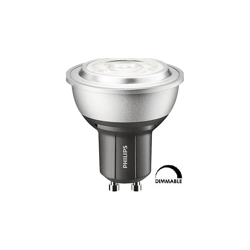Ampoule LEDspot PHILIPS  PAR16 4W substitut 35W 272 lumens blanc chaud 2700K GU10