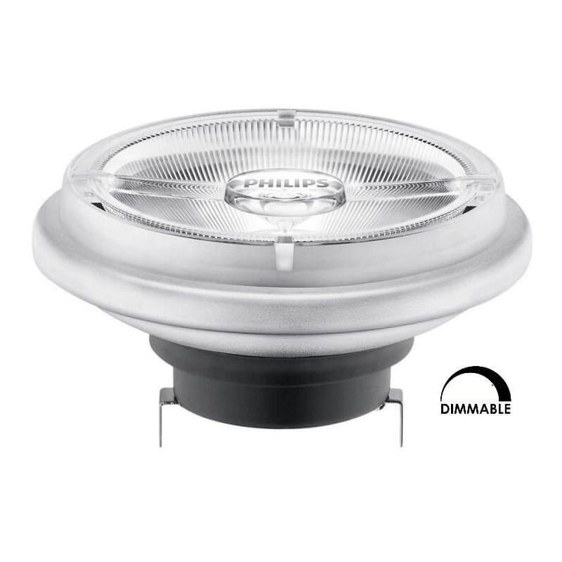 Ampoule LEDspot PHILIPS AR111 15W substitut 75W 760 lumens blanc chaud 2700K dimmable G53