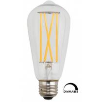 Ampoule Kodak Lighting LED ST-64 5W substitut 60W 600 lumens Blanc chaud 2700K Dimmable E27
