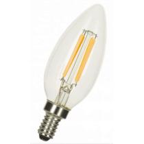 Ampoule LED LITED flamme C35 4W substitut 35W 370 lumens blanc très chaud 2100k E14