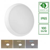 Hublot LED Spectrum NYMPHEA CITY PRO 24W 2400 lumens 3000K-4000K-6000K couleur sélectionnable  IP65 Etanche IK10