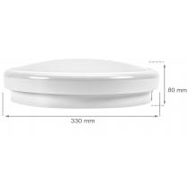 Hublot LED Spectrum NYMPHEA CITY 30W 2400 lumens Blanc froid 4000K IP65 Etanche IK07 avec capteur de mouvement