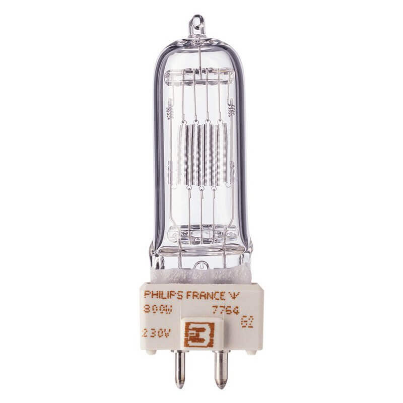 Philips 7764 800W 230V GY9.5 A1/245 3200° 75h