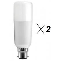 Pack de 2 Ampoules G.E. lighting tubulaires 16w substitut 100w 1521 lumens 100w blanc neutre 3000K B22