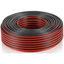 Câble d'enceinte et audio HP HI-FI 2x2,5mm²  150m rouge/noir