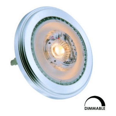 Ampoule LED SFN AR111 13W Substitut 75W 890lumens blanc chaud 3000K dimmable G53