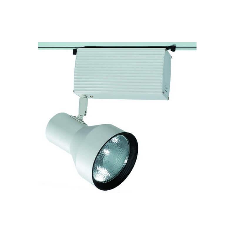 projecteur iodure sur rail 70w g12 blanc orientable prix cass. Black Bedroom Furniture Sets. Home Design Ideas