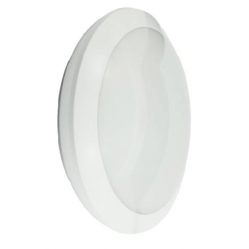 Hublot LED intégrée OSLO 22W 2000 Lumens Blanc froid 4000k IP66 étanche IK10