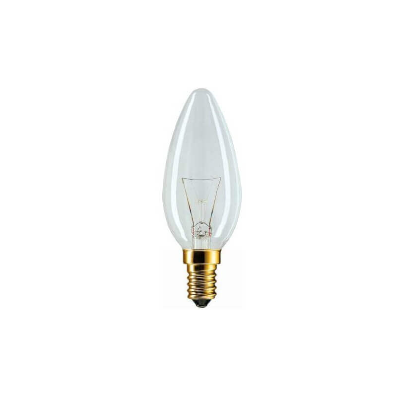 Philips Standard flamme 40W E14 230V B35 CL 2CT