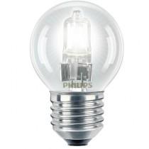 Philips EcoClassic 28W E27 230V P45 CL 1BC Lampe halogène à tension secteur économique pour lustre de forme P45